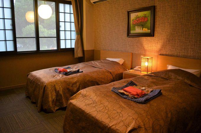 高級ホテル御用達のシモンズベッドの洋室