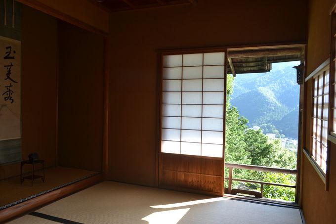 離れ「山楽荘」も露天風呂付きに。絶景の茶室も