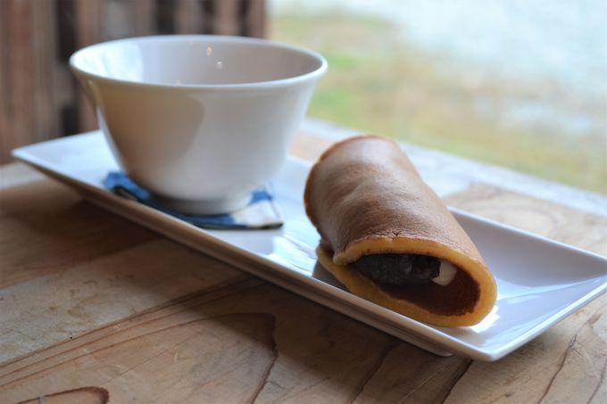 洋の雰囲気をまとった和菓子が美味しい「茶房花苑」へ