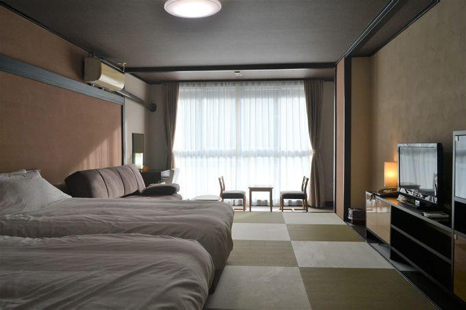 10〜12畳の客室はお値段以上のゆったり感