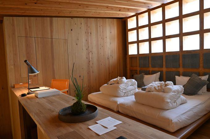 那須の自然とゆるやかにつながるヴィラの室内