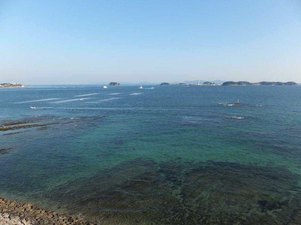 羽豆神社境内の展望台からの絶景にため息を