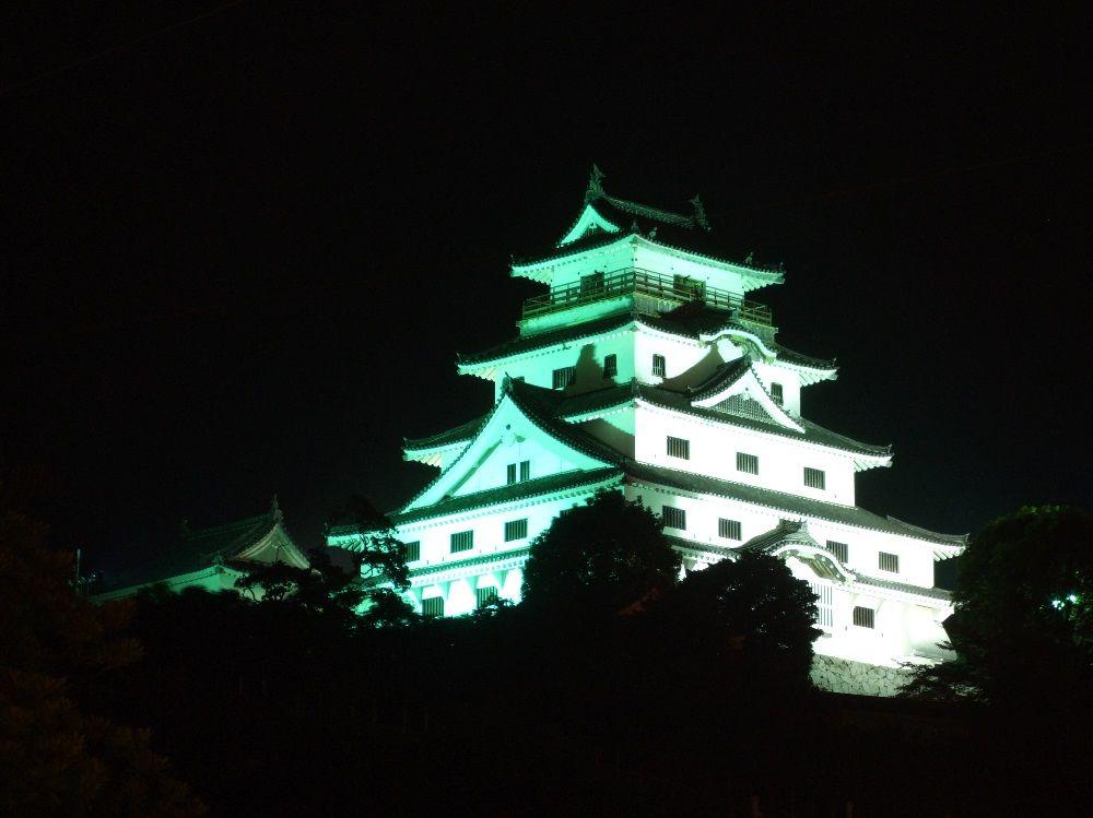 唐津城天守閣のライトアップは市内どこからでも見える!