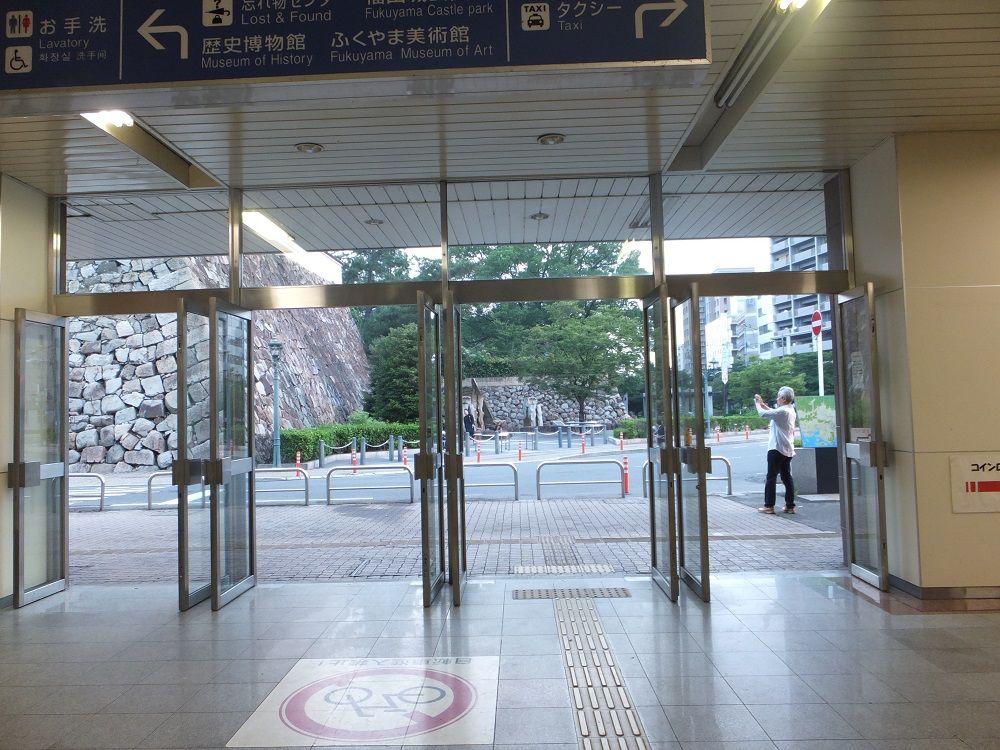 """ホームから見える!福山の""""超""""駅近観光スポット「福山城」"""