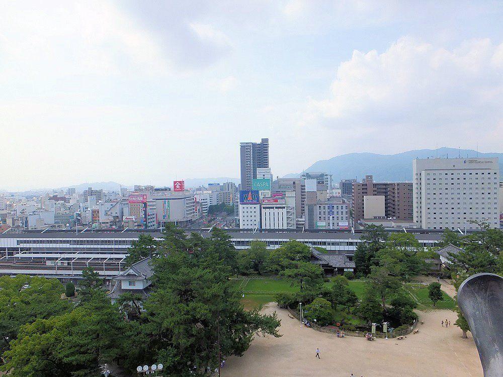 逆に、天守閣から福山の町を眺めてみよう!