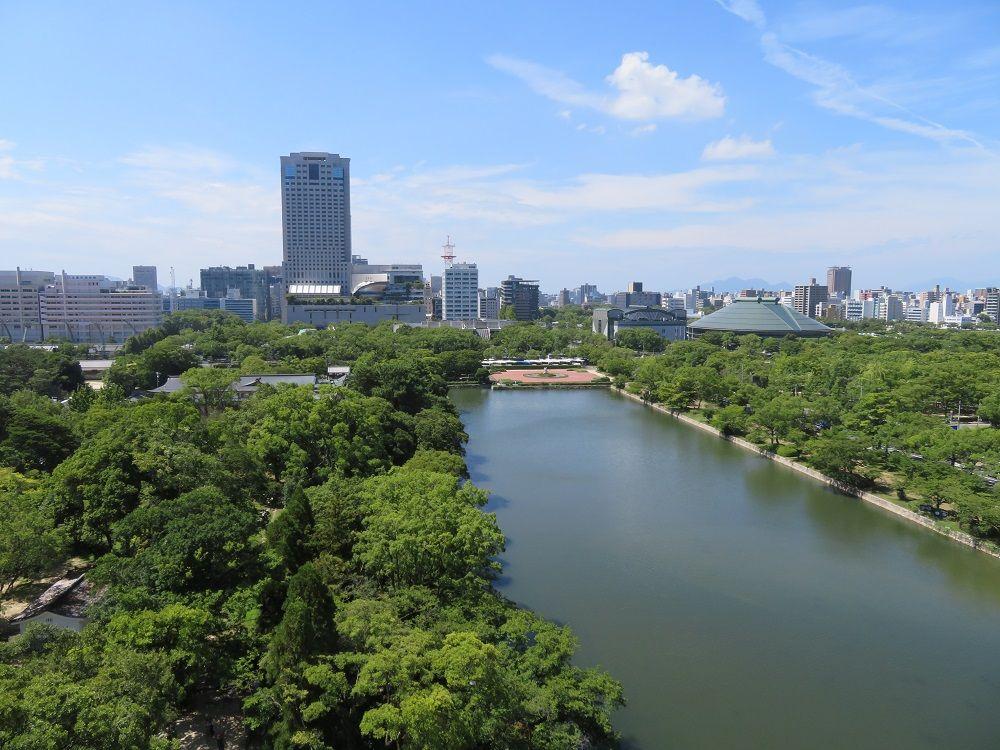 広島城は防御に難あり?お堀と天守を攻める