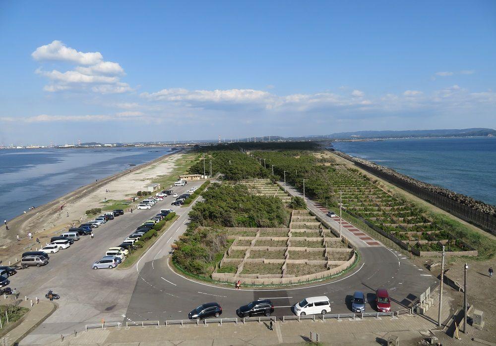 絶景!岬先端の展望塔から東京湾を一望