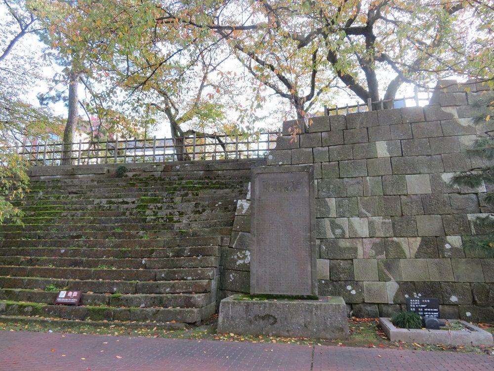 城名の由来となった「福の井」!雁木などの遺構も
