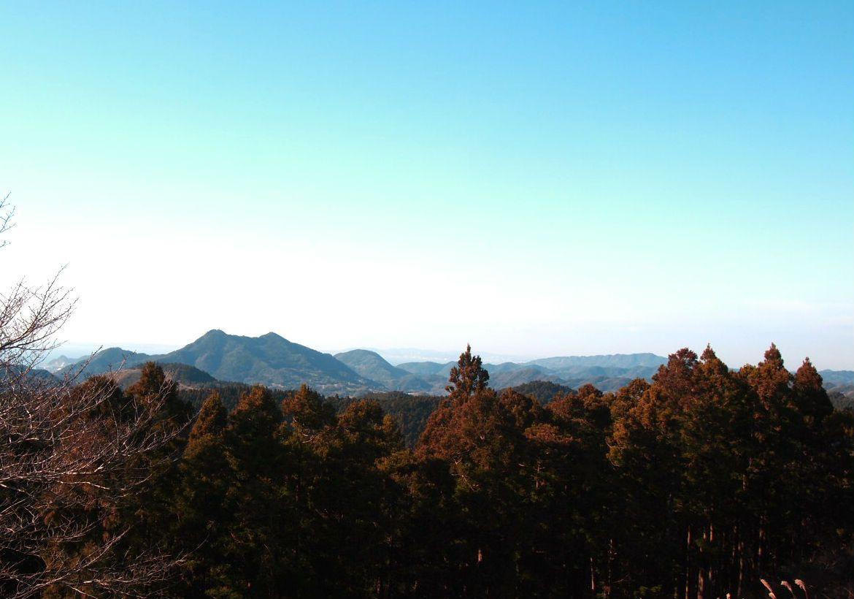 大日山の山頂から房州名山を望む