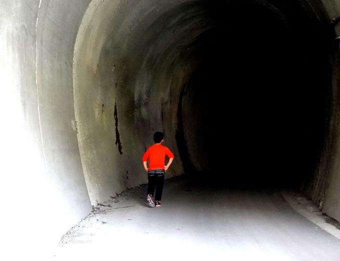 漆黒のトンネルを冒険!