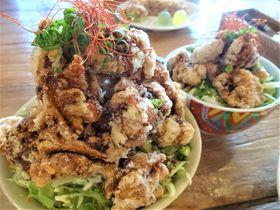 「唐揚げ12個ドーンッ!」ヒマラヤ丼が旨い!アジアンオールドバザール伊豆