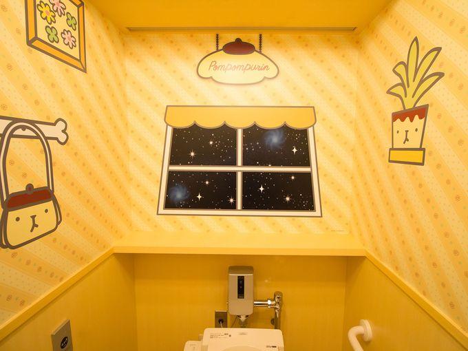 女性用個室はまるでキャラクターたちのお部屋!?