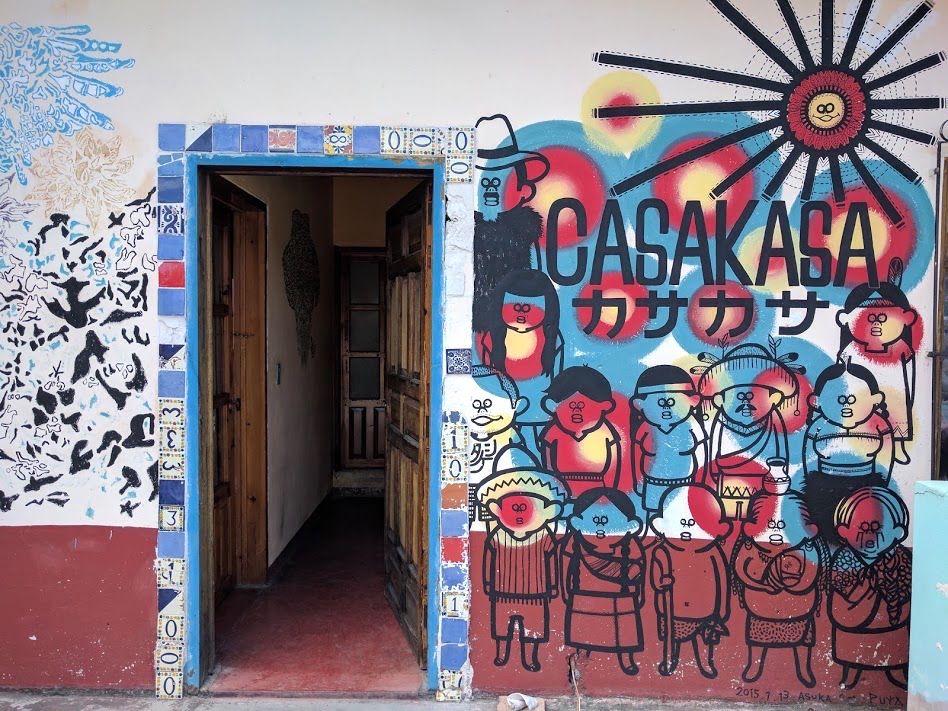 多くのアーティストの作品によって彩られた宿!