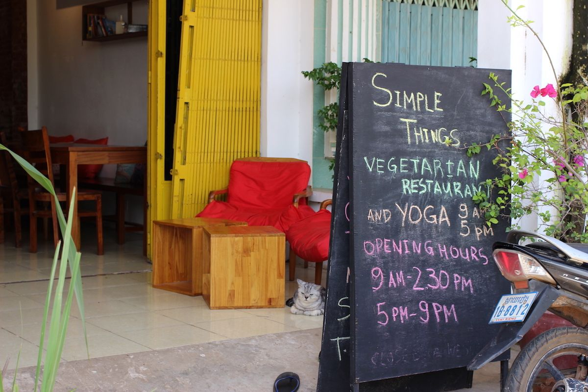 2、数少ないベジタリアンのお店「Simple Things」