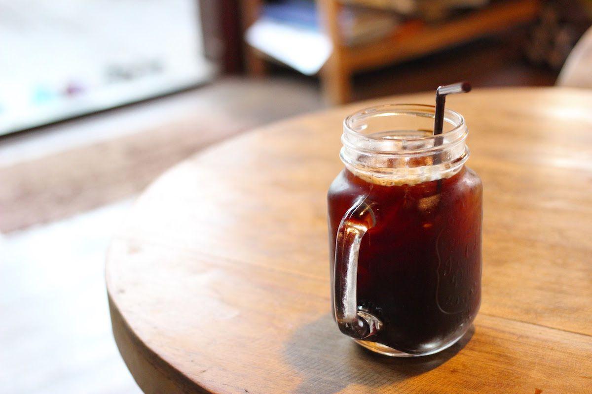 地元で採れた豆で淹れるコーヒーが美味しい