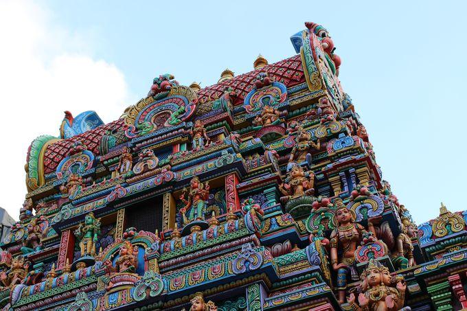 タイでは珍しいヒンドゥー教寺院の近く