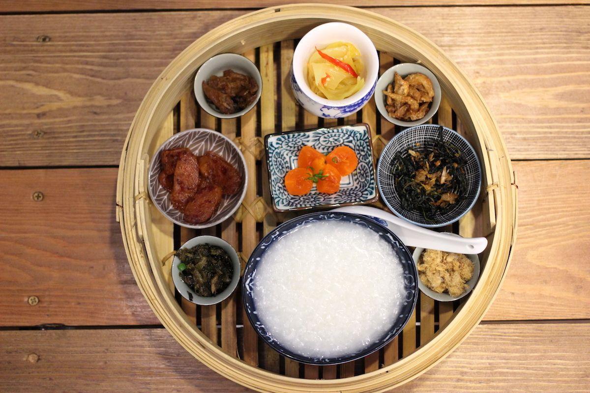 こだわりを感じさせる中華風の朝食セット