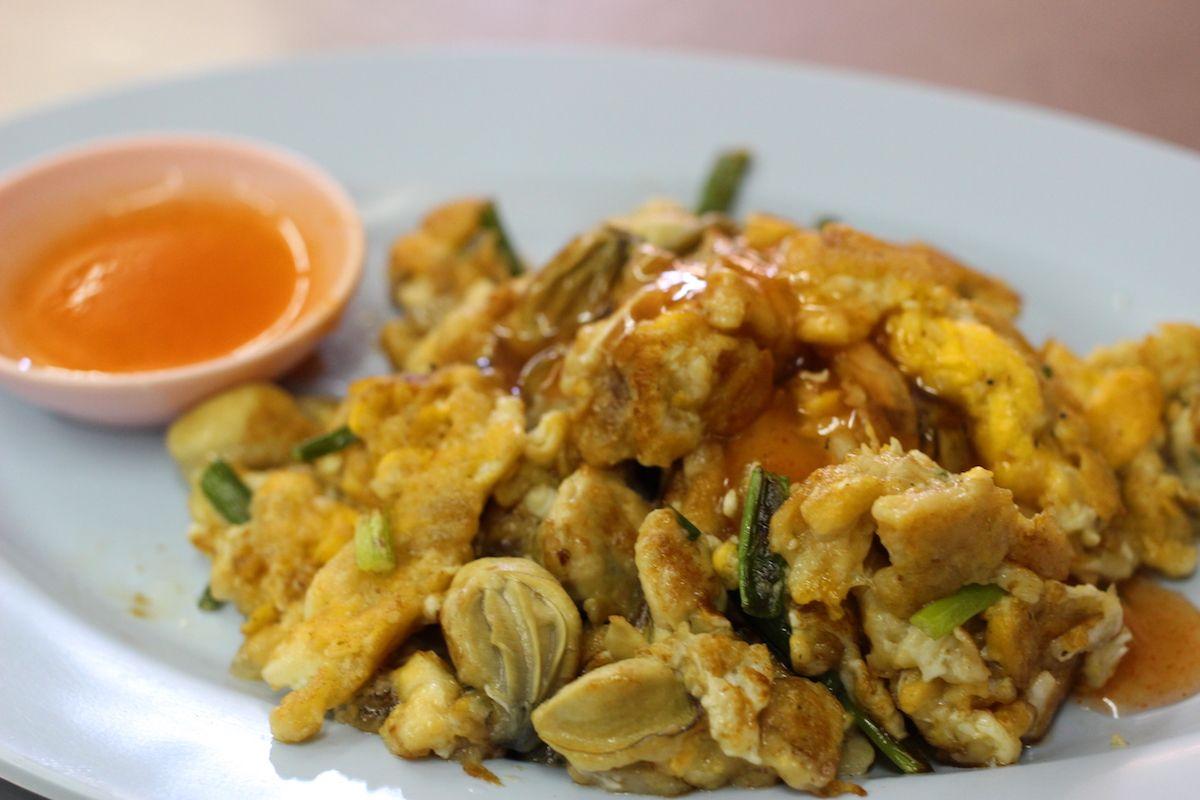 タイのお好み焼といわれる「ホイトート」が美味しい