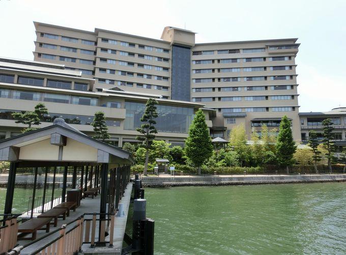 純和風建築の「ホテル九重」と浜松「舘山寺温泉」の景観との調和