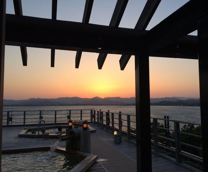 幻想的な夕景。その後は海鮮料理と静岡グルメ