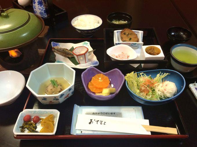 朝食会場「篤姫」で舌鼓