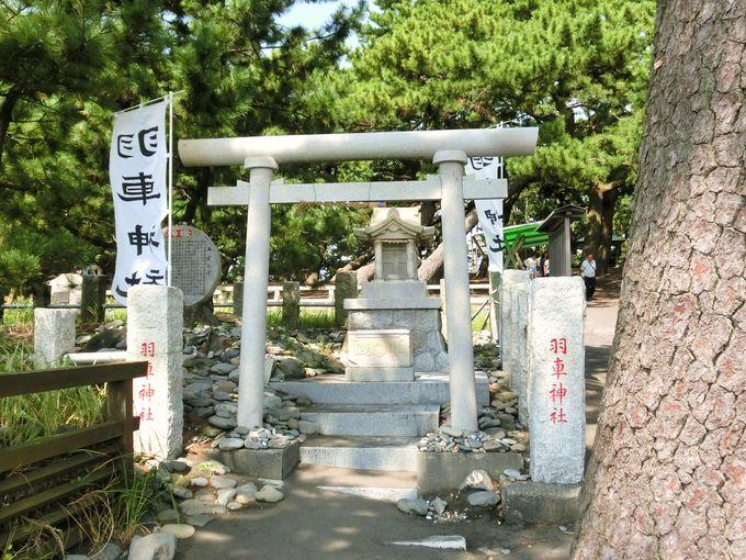 願い事を石に書き記して納める「羽車神社」