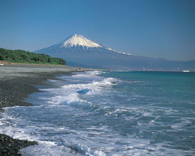 「三保の松原」からの世界文化遺産・富士山