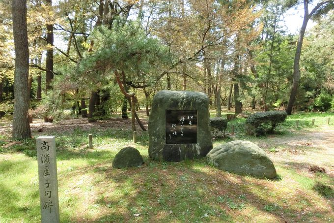 石塚友二、高浜虚子の句碑など多数の石碑