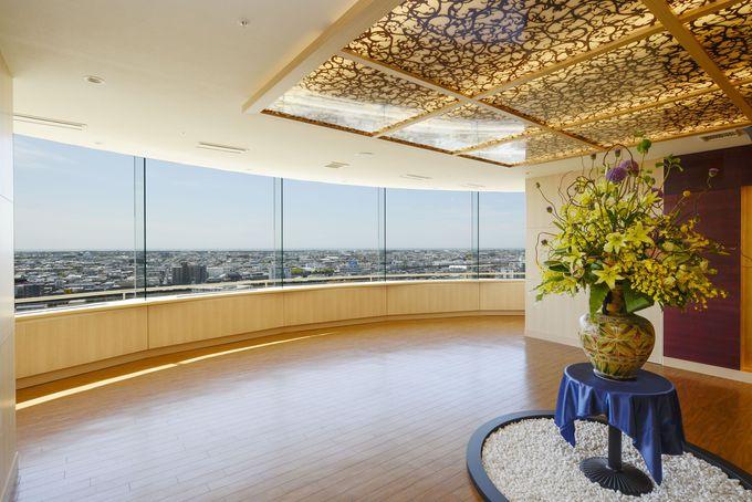 """ホテル最上階・12階にある展望フロアとレストラン""""ロチェスター"""""""