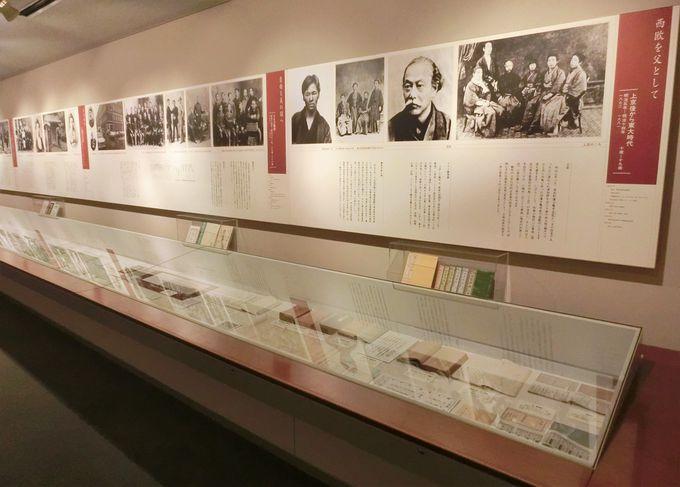 巧みな展示構成・第一展示室は、森鴎外の上京から