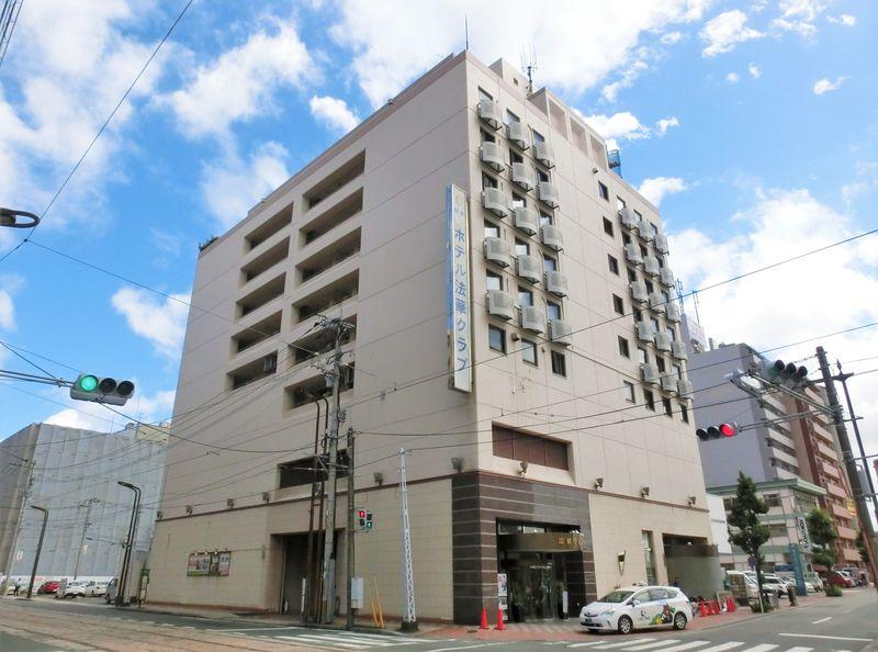 落ち着いた雰囲気で寛げる「ホテル法華クラブ熊本」は大浴場付き