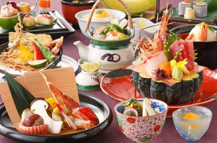 日本料理、中国料理、フレンチ、カフェ、バーとバラエティ豊富なレストラン