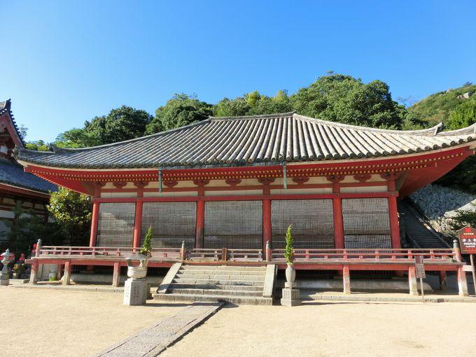 国指定重要文化財の壮観な「阿弥陀堂」