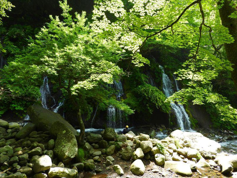 山梨・小淵沢ICから30分、吐竜の滝はマイナスイオン溢れる極上日本庭園!