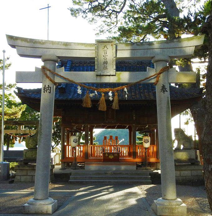 竹島を一周して絶景を堪能、八百富神社分祀へ