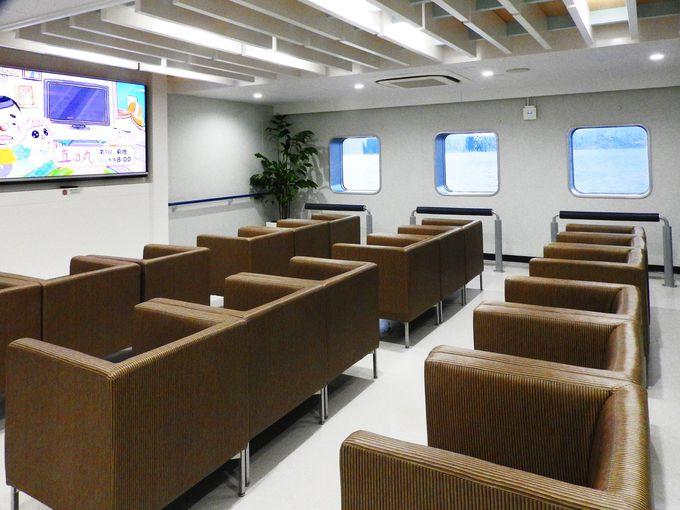 ハイテク技術駆使で快適な船旅を楽しむスペースが盛りだくさん