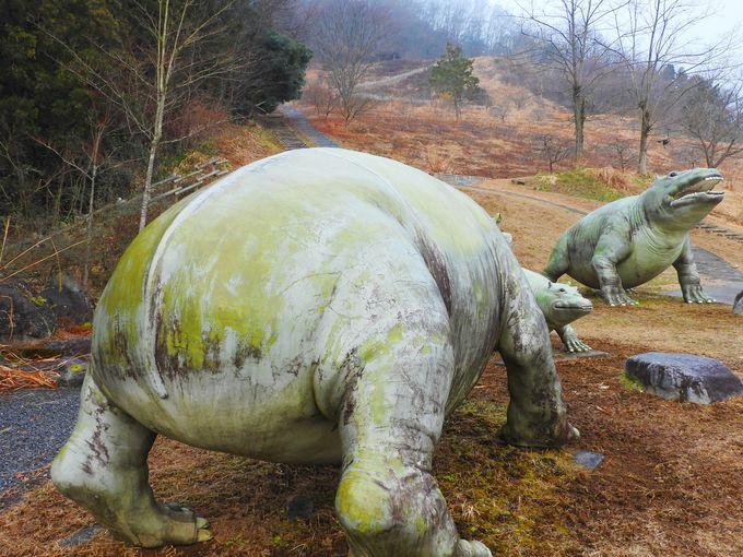 「般若の丘」では大迫力の恐竜が咆哮