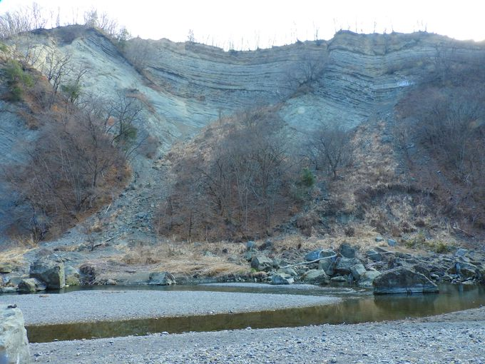 賢治が訪れた小鹿野は、絶景地層と化石発掘の町
