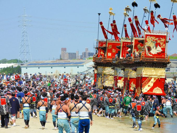 海の町の山車祭〜神前神社、秋葉神社、尾張三社巡行〜