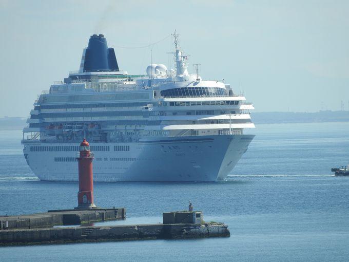 大型クルーズ船が複数同時寄港する日がある