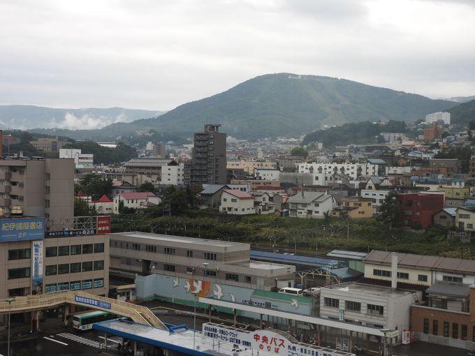 JR小樽駅と中央バスターミナルが直前にあり、どこへも便利