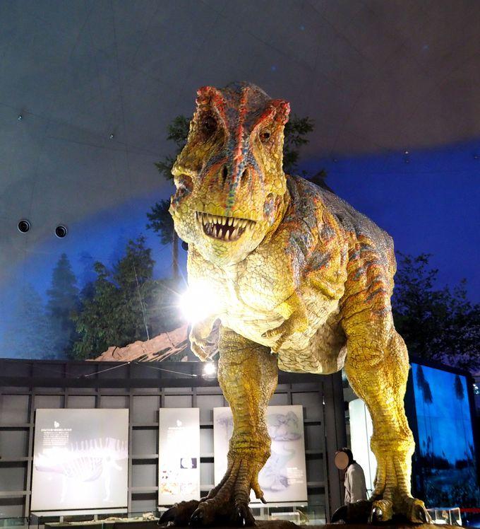 泣く子も出るほどリアルな恐竜!見学は矢印に沿って行こう