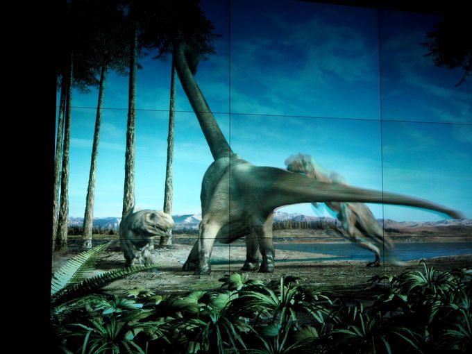 肉食恐竜が画面を飛び出す!