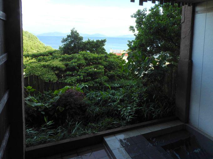 露天風呂からの景色がゴージャス!