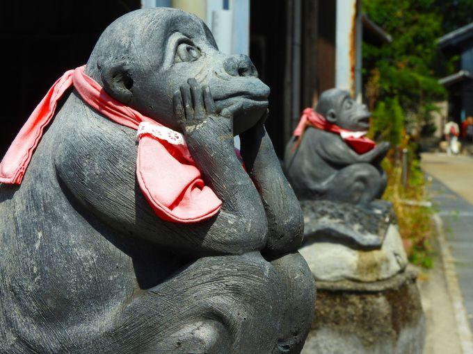 縁結びのパワースポット、庚申堂の三猿をお参りしていこう