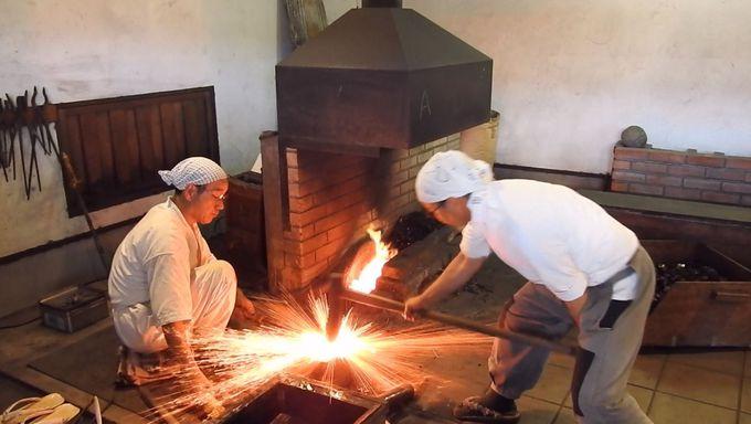 日本刀古式鍛錬の撮影ポイント