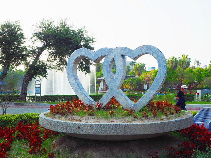 100年前に整備された台中公園
