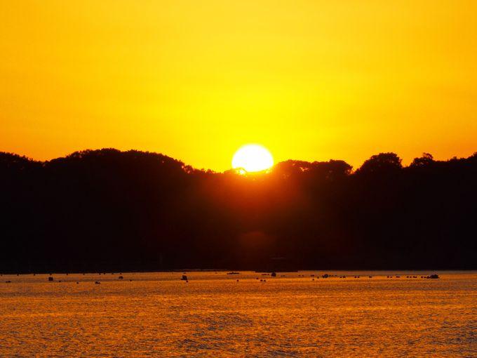 英虞湾に沈む完璧な夕陽