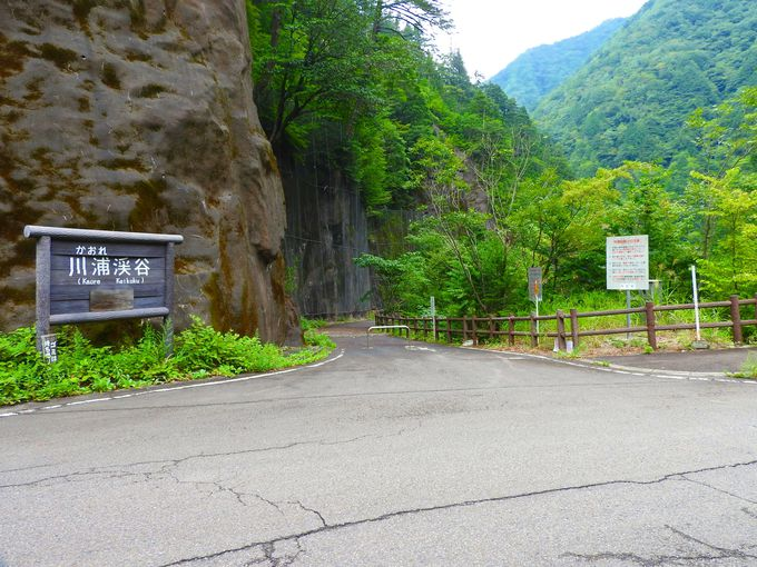 コンパクトに歩ける「川浦渓谷」