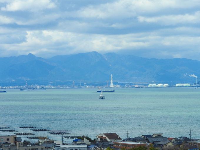 伊勢湾を見渡せる大野城展望台